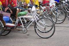 Parking for rickshaws or samlor,Chiang Mai ,Thailand royalty free stock images