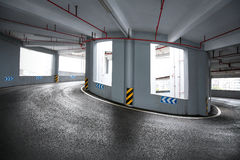 Parking road Stock Images