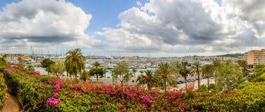 Parking sailing ships in Marina Palma, Majorca Stock Images