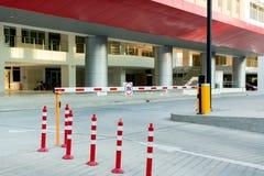 Parking samochodowego automatyczny has?owy system System bezpiecze?stwa dla budowa? dost?p - bariery bramy przerwa z op?aty drogo obrazy stock