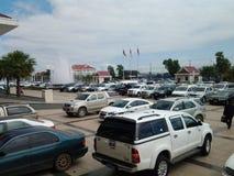 Parking samochodowy Zdjęcia Royalty Free