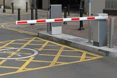 Parking samochodowy bariera fotografia royalty free