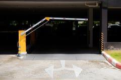 Parking samochodowy bariera, automatyczny hasłowy system System bezpieczeństwa dla budować dostęp - bariery bramy przerwa z opłat obrazy royalty free