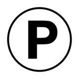 Parking samochodowy ikona Obrazy Royalty Free