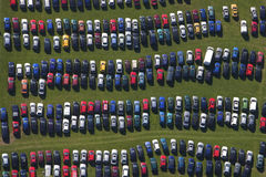 parking samochodowy rzędy Obrazy Royalty Free