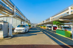 Parking samochodowy wentyluje Zdjęcia Royalty Free