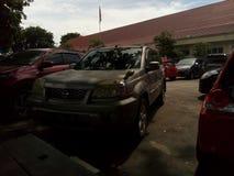 Parking samochodu teren zdjęcie stock