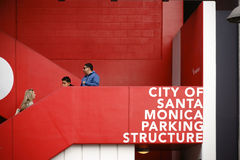 Parking Santa Monica photographie stock