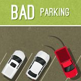 Parking scene poster Stock Images