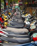 Parking scooters in Vietnam Stock Image