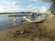 Parking seaplane Stock Photography