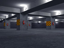 Parking set one Royalty Free Stock Images