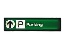 Parking sign. Isolated on white royalty free stock photos