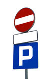 Parking sign. Isolated on a white background royalty free stock photos