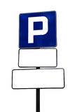 Parking sign. Isolated on a white background stock photo
