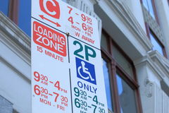 Parking sign. In Melbourne downtown Royalty Free Stock Photos