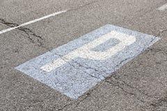 Parking sign on asphalt Stock Images