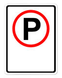 Parking sign blank for text Stock Images
