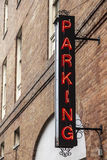 Parking sign in the city Stock Photo