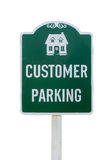Parking sign. Customer parking sign isolated on white background stock images