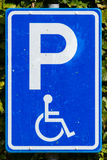Parking sign for disable people Royalty Free Stock Images