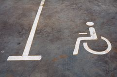 Parking sign for disable people Royalty Free Stock Photos