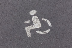 Parking sign for disabled Royalty Free Stock Photography
