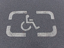 Parking sign for disabled Stock Photography