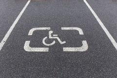 Parking sign for disabled Royalty Free Stock Photos