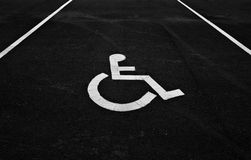 Parking sign for disabled people Stock Images