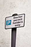 Doctor parking Royalty Free Stock Photography