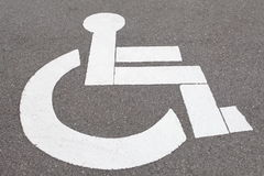 parking sign for handicapped Royalty Free Stock Image