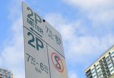 Parking sign Melbourne. Downtown Australia Stock Photography