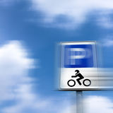 Parking sign with motion blur Stock Image