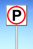 Parking sign over blue sky Stock Image