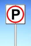 Parking sign over blue sky Stock Image