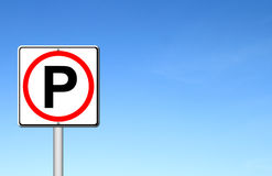 Parking sign over blue sky Royalty Free Stock Image