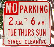 A parking sign stock photography