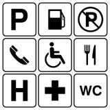 Parking sign set Stock Photo
