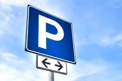 Free parking signal Royalty Free Stock Image