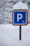 Parking Sign Winter stock photos