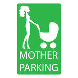 Parking sign for women with children Royalty Free Stock Image