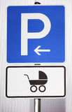Parking sign for women with children Royalty Free Stock Photography