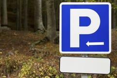 Parking signal stock photography
