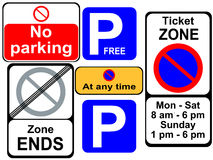 Parking signs Stock Image
