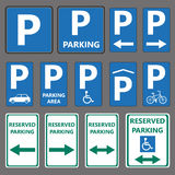 Parking signs Stock Photo