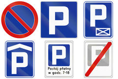 Parking Signs In Poland Royalty Free Stock Photo