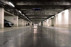 Parking souterrain - underground park royalty free stock photos