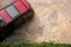 Parking space. Reserved for you royalty free stock images