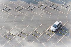 A Parking space from above. Royalty Free Stock Image